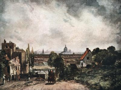 View of the City of London from Sir Richard Steele's Cottage, 19th Century