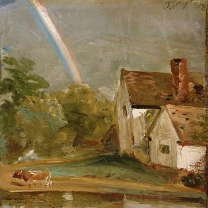 Willy Lott's House with a Rainbow, Dated October 1St, 1812 by John Constable