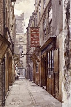 Botolph Alley, London, 1886 by John Crowther