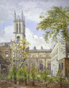 Church of St Michael, Cornhill, City of London, 1882 by John Crowther