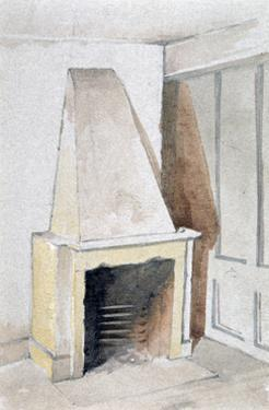 Fireplace in one of the top rooms, no 21 Austin Friars Street, City of London, 1885 by John Crowther