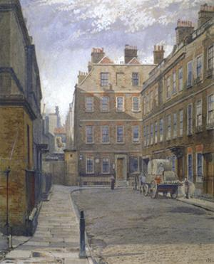 Gough Square, London, 1881 by John Crowther