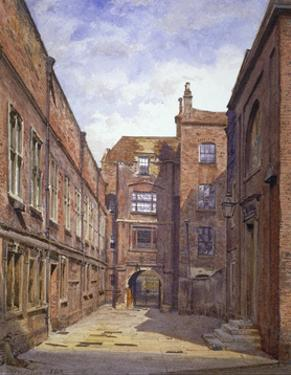 Hall and library, Sion College, London Wall, City of London, 1880 by John Crowther