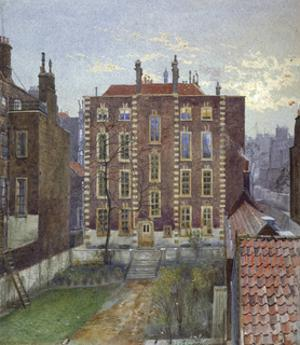 House on Austin Friars Street, City of London, 1881 by John Crowther