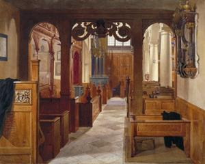 Interior of Charterhouse Chapel, London, 1885 by John Crowther