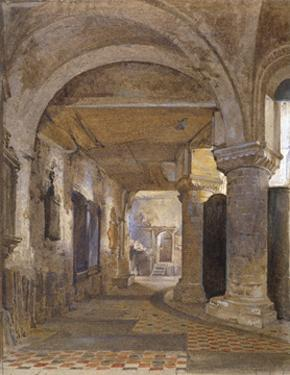 Interior of St Bartholomew's Priory, Smithfield, City of London, c1880 by John Crowther
