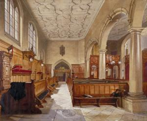 Interior of the chapel in Charterhouse, London, 1885 by John Crowther