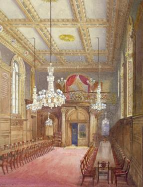 Interior of the Vintners' Hall, Upper Thames Street, London, 1888 by John Crowther
