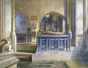 Lord and Lady Crosby's monument in St Helen's Church, Bishopsgate, City of London, 1883 by John Crowther