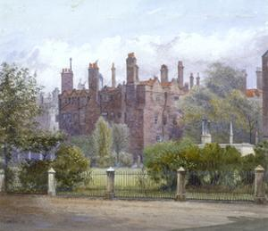 Old Buildings and gardens, Lincoln's Inn, London, 1879 by John Crowther