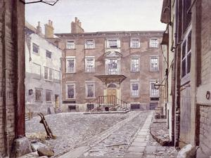 Sir Christopher Wren's House, Botolph Lane, London, 1886 by John Crowther
