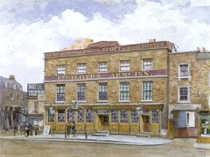 The Bricklayers' Arms Inn, Old Kent Road, Southwark, London, 1880 by John Crowther