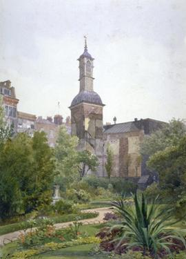 The tower of the Church of St Botolph, Aldersgate, City of London, 1886 by John Crowther