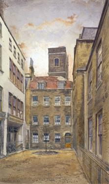 Tower of the Church of St Matthew, Friday Street as seen from Fountain Court, London, 1882 by John Crowther