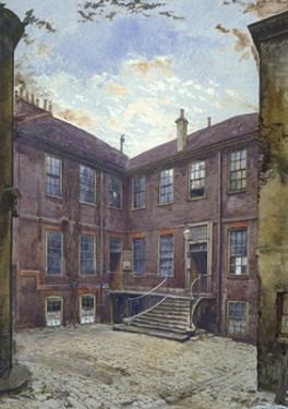 View of an old house in Great Winchester Street, City of London, 1880 by John Crowther