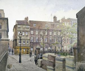 View of buildings in Great St Helen's, City of London, 1888 by John Crowther