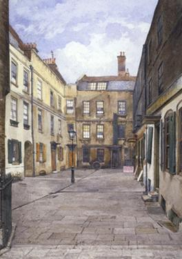 View of Johnson's Court, Fleet Street, London, 1881 by John Crowther