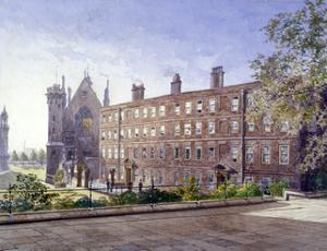 View of nos 3 and 4 Garden Court, Middle Temple, London, 1883 by John Crowther