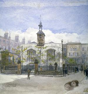 View of St Helen's Church, Bishopsgate, City of London, 1883 by John Crowther