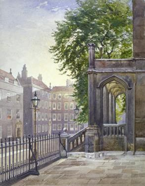 View of the entrance to Gray's Inn Hall, South Square, London, 1886 by John Crowther