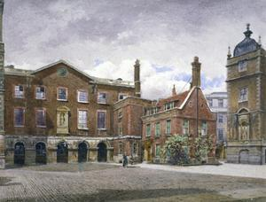 View of the grammar school at Christ's Hospital, Newgate Street, City of London, 1881 by John Crowther