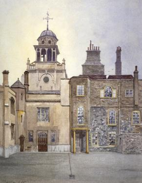 View of the north side of Chapel Tower, Charterhouse, London, 1885 by John Crowther