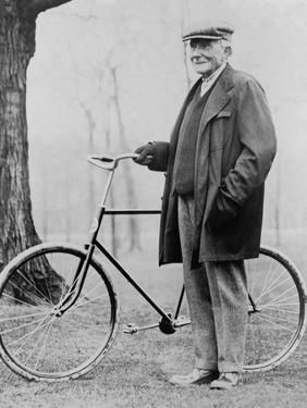 John D. Rockefeller 1939-1937 with His Bicycle after His Retirement, 1913