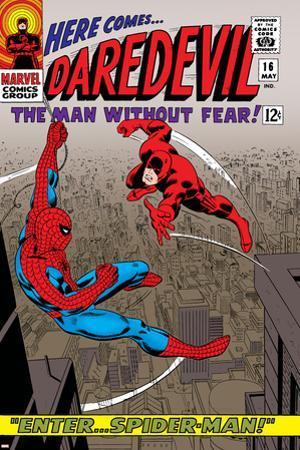 Daredevil No.16 Cover: Spider-Man and Daredevil Charging