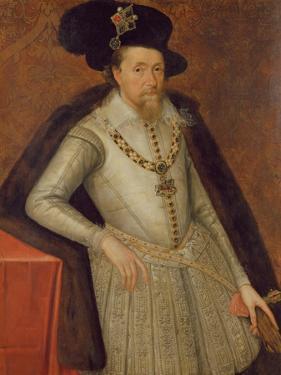 James I of England, and Vi of Scotland by John de Critz