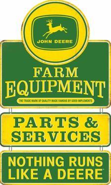 John Deere Equipment Tin Sign
