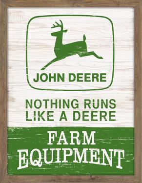 John Deere Wood Framed MDF Sign