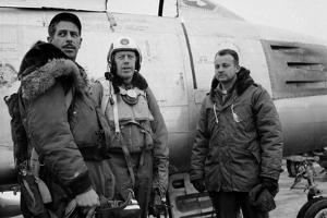 1950: F-86 Sabre Jet Pilots. in Center Is Colonial John C. Meyer by John Dominis