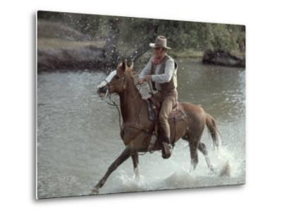 "Actor John Wayne During Filming of Western Movie ""The Undefeated"" by John Dominis"