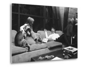 Actor Robert Redford and His Family at Home by John Dominis