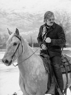 Actor Robert Redford Horseback Riding by John Dominis