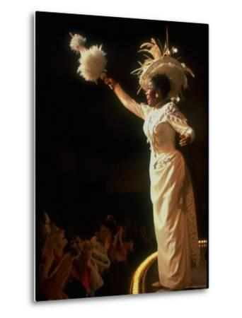 "Actress Pearl Bailey Pointing Parasol as Dolly Levi in Scene from Broadway Musical ""Hello Dolly"" by John Dominis"