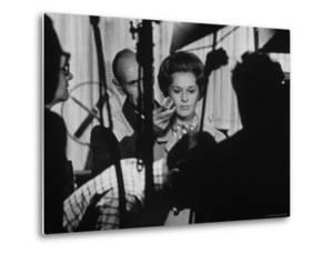 """Actress Tippi Hedren Testing for Hitchcock's New Movie, """"Marnie,"""" at Universal Studios by John Dominis"""