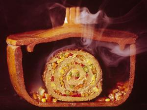 Argentinian Matambre, a Slice of Beef Rolled with Vegetables and Chilies by John Dominis