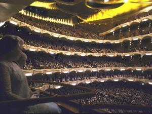 Auditorium of Metropolitan Opera Packed to Capacity, Night of Inaugural Performance, Lincoln Center by John Dominis