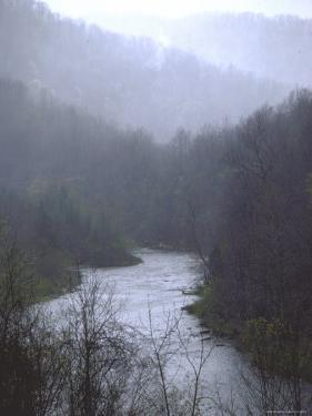 Cheat River Flowing Through Alleghenies on a Misty Day by John Dominis