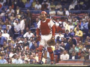 Cincinnati Redlegs' Catcher Johnny Bench in Action Alone by John Dominis