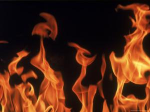 Close Up of Flames by John Dominis