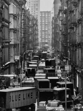 Congested Street in Soho Where More Than a Thousand Artists Live and Work in Huge Lofts by John Dominis