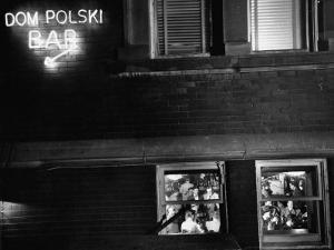 Dom Polski, East Side Community Center, from Photo Essay Regarding Polish American Community by John Dominis