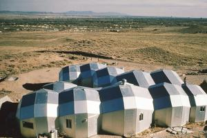 Elevated View of a Residential Geodesic Dome Structure, Called 'Zome', Corrales, NM, 1972 by John Dominis