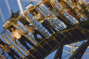 Fairgoers on a 'Round-Up' Spinning Amusement Ride at the Iowa State Fair, Des Moines, Iowa, 1955 by John Dominis