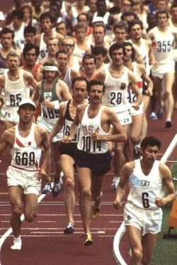 Frank Shorter in the Marathon at 1972 Summer Olympic Games in Munich, Germany by John Dominis