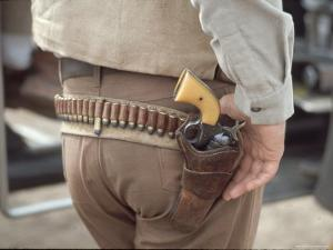 """Gun and Holster Belonging to Actor John Wayne During Filming of Western Movie """"The Undefeated"""" by John Dominis"""