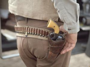 "Gun and Holster Belonging to Actor John Wayne During Filming of Western Movie ""The Undefeated"" by John Dominis"