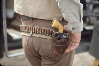 """Gun and Holster Belonging to Actor John Wayne During Filming of Western Movie """"The Undefeated"""""""